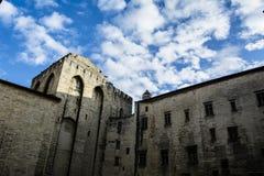 Schlosswandinnenraum Stockfoto