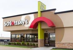 Schlotzsky's Restaurant Exterior and Logo Stock Photos