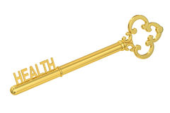Schlüssel zum Gesundheitskonzept, Wiedergabe 3D Lizenzfreie Stockfotografie