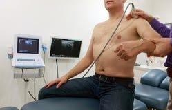 Schlüsselbein - Schultergelenk - Diagnose mit Ultraschall Stockbilder