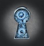 Schlüsselloch für Geschäftserfolg Stockfoto