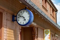 SCHLUCHSEE, DUITSLAND - JULI 19 2018: Schluchseestation binnen royalty-vrije stock afbeeldingen