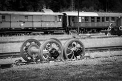 SCHLUCHSEE TYSKLAND - JULI 19 2018: Schluchsee drevstation in royaltyfria bilder