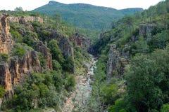 Schlucht im französischen Alpes-de-Haute-Provence Stockfotos