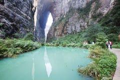 Schlucht im wulong, Chongqing, Porzellan Lizenzfreies Stockfoto