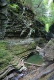 Schlucht an Nationalpark A Watkins-Schlucht-(NY) Stockfotografie