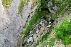 Schlucht Nevidio, Fluss Komarnica Lizenzfreie Stockfotos