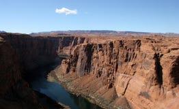 Schlucht-Schlucht u. Kolorado-Fluss Lizenzfreies Stockbild
