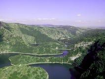 Schlucht von Fluss Uvac in Serbien Lizenzfreie Stockfotos