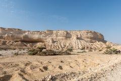 Schlucht von Wadi Ash Shuwaymiyyah (Oman) Stockbilder
