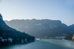 Schlucht Yiling der Jangtse Three Gorges Dengying Stockfoto