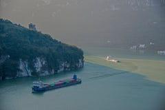 Schlucht Yiling der Jangtse Three Gorges Dengying Lizenzfreie Stockbilder
