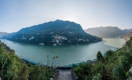 Schlucht Yiling der Jangtse Three Gorges Dengying Lizenzfreies Stockfoto