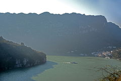 Schlucht Yiling der Jangtse Three Gorges Dengying Stockbild