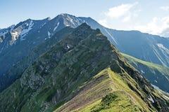 Schluchtost- Steigung der West-Sayan-Strecke Sayan-Gebirgs--einallgemeiner Name für zwei Gebirgs-Systeme in Süd-Sibirien lizenzfreies stockbild