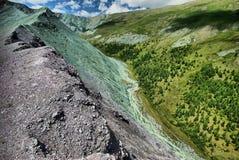Schluchtoststeigung der Sikhote-Alinstrecke Sikhote Alin, ein Bergland im Fernen Osten stockfotografie