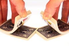 Schlurfen der Spielkarte-Plattform   Stockfotos