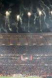Schluss am Fußball-Stadt-Stadion Lizenzfreies Stockfoto