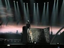 Schluss von Eurovision 2017 auf dem Stadium des internationalen Exhib Lizenzfreie Stockbilder