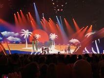 Schluss von Eurovision 2017 auf dem Stadium des internationalen Exhib Stockfotografie