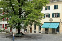 Schlusselgasse - Zurich Foto de archivo libre de regalías