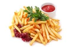 Schmücken Sie Pommes-Frites Lizenzfreie Stockfotos