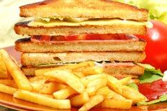 Schmackhaftes Club Sandwich Lizenzfreie Stockfotografie