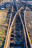 Schmal-Messgerät Bahnseitenspur Stockfotos