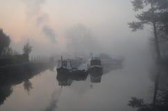 Schmale Boote Eaton Socon Lizenzfreie Stockfotos
