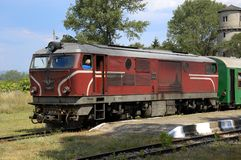 Schmale Lehren-Lokomotive, Bulgarien Lizenzfreies Stockfoto