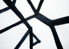 Schmale Linien schneiden in den verschiedenen Winkeln Eine abstrakte Darstellung einer Gottesanbeterin oder des Skeletts eines er stock abbildung