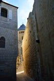 Schmale Straße in altem Jerusalem Stockbilder