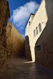 Schmale Straße in altem Jerusalem Stockfotografie