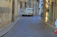 Schmale Straße in Vicenza, Italien Lizenzfreie Stockfotos