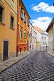 Schmale Straße von Budapest Stockbild