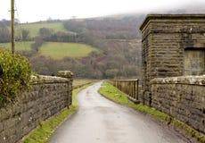 Schmale Straße in Wales Lizenzfreie Stockfotos
