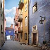 Schmale Straßen der alten Stadt Lizenzfreie Stockbilder