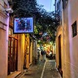 Schmale Straßen in Rethymno Lizenzfreie Stockfotografie
