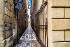Schmale Straßen von Rimini Stockbilder