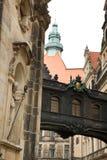 Schmale Straße in Dresden Stockfoto