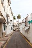 Schmale Straße in Spanien Lizenzfreies Stockfoto