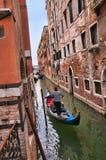 Schmaler Kanal in Venedig Italien Lizenzfreie Stockfotografie
