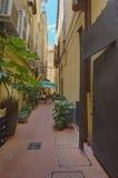 Schmales Straße Bologna stockfotos