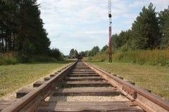 Schmalspur-Eisenbahn. Stockbilder