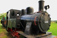 Schmalspurdampflokomotive Stockfotos