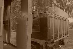 Schmalspurdampflokomotive Stockbild