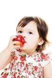Schmecken eines Apfels Stockbilder