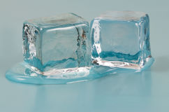 Schmelzende Eis-Würfel Stockbild