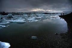 Schmelzende Eisberge Stockfotografie