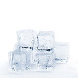 Schmelzende Eiswürfel getont Stockfotografie
